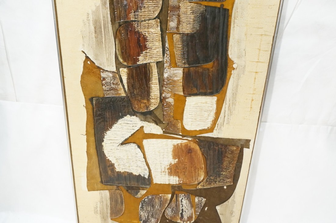 WILMA KING Modernist Abstract Painting. Neutral & - 3