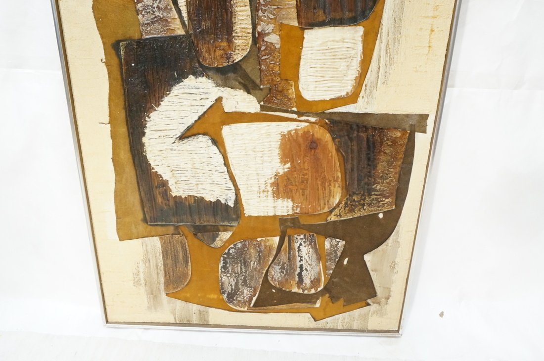WILMA KING Modernist Abstract Painting. Neutral & - 4