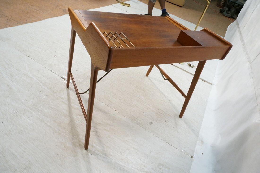 Arne Wahl Iversen Danish Teak Flip Top Desk. Top - 3
