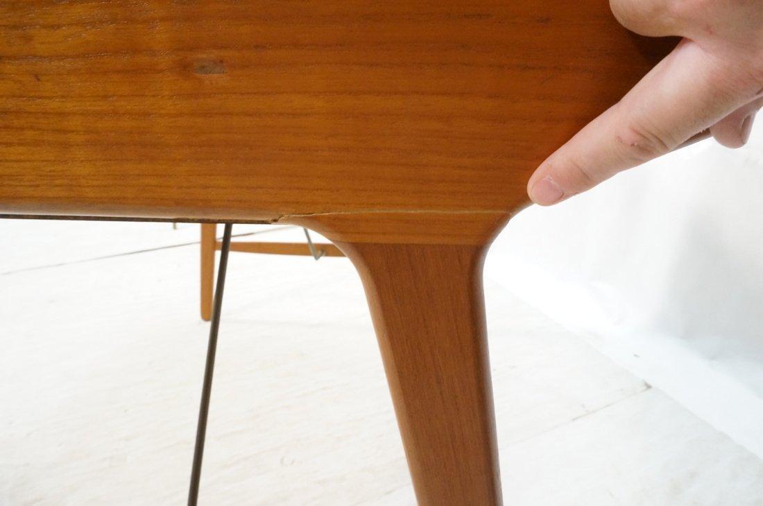 Arne Wahl Iversen Danish Teak Flip Top Desk. Top - 8