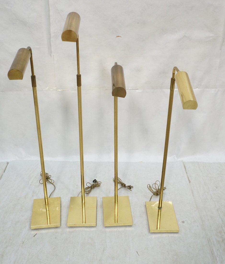 4 KOCH & LOWY Brass OMI Floor Lamps. Adjustable h
