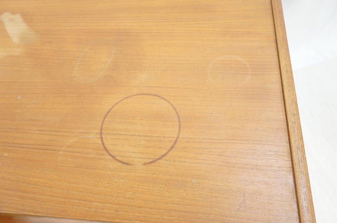 Pr Danish Teak Six Drawer Small Chests Dressers. - 3