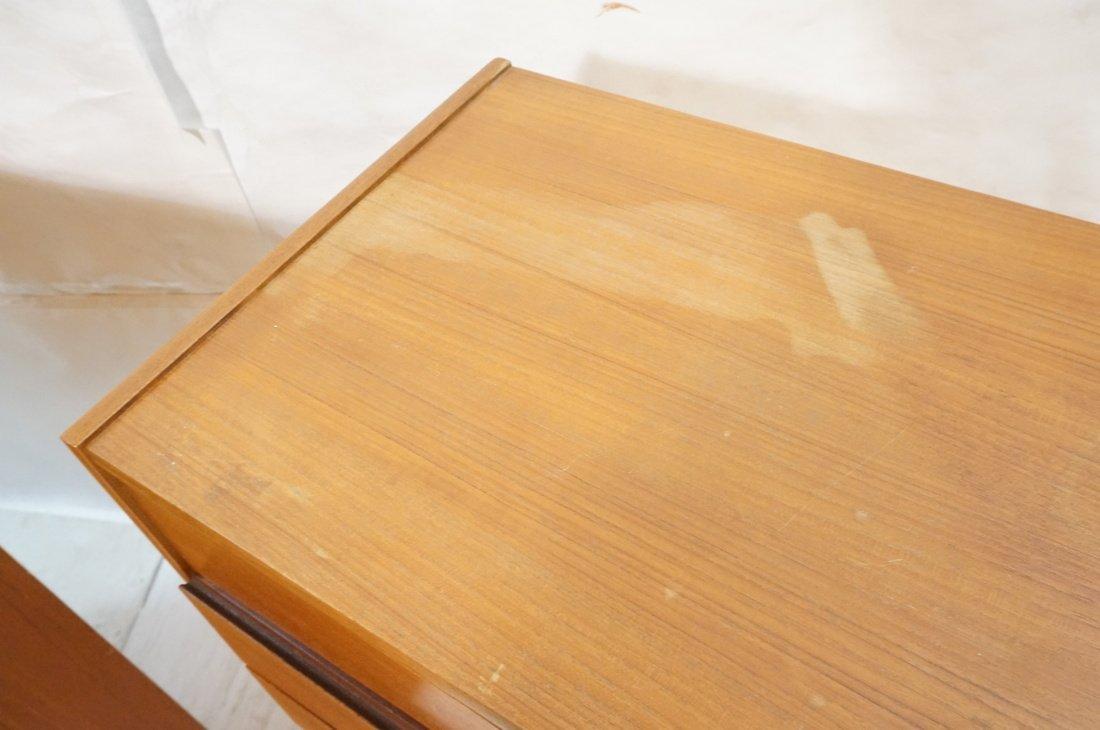 Pr Danish Teak Six Drawer Small Chests Dressers. - 4