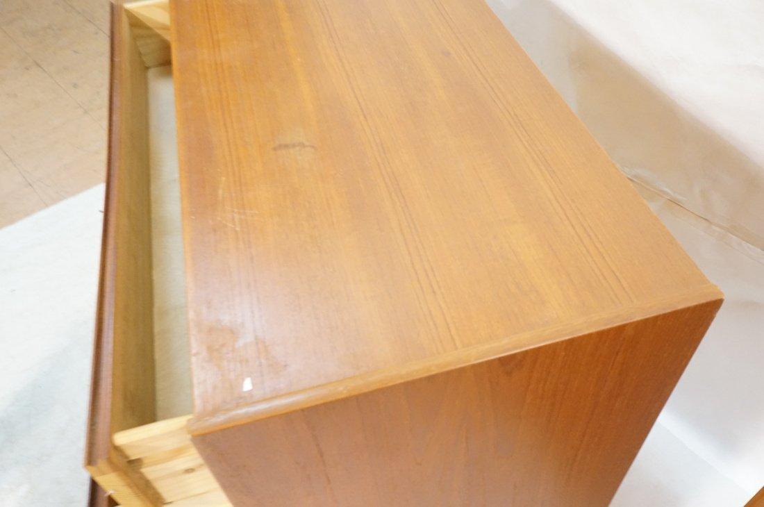 Pr Danish Teak Six Drawer Small Chests Dressers. - 5