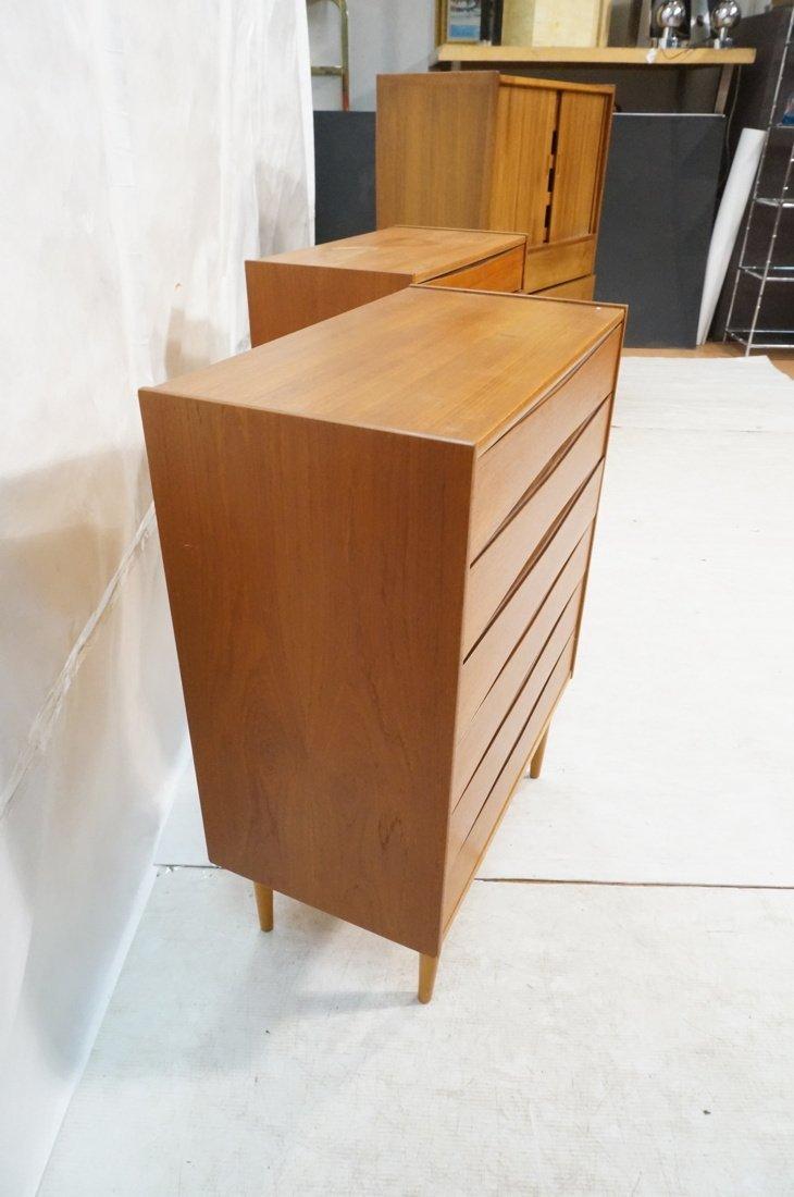 Pr Danish Teak Six Drawer Small Chests Dressers. - 7