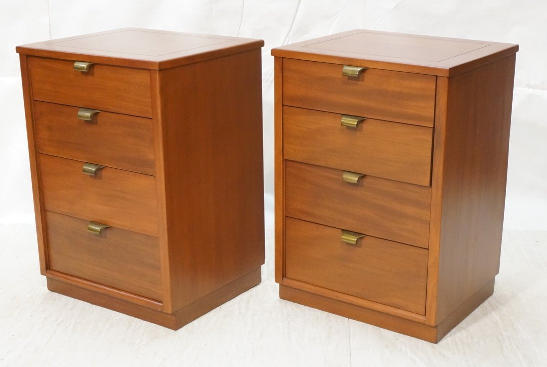 Pr EDWARD WORMLEY for DREXEL Night Stands. Four D