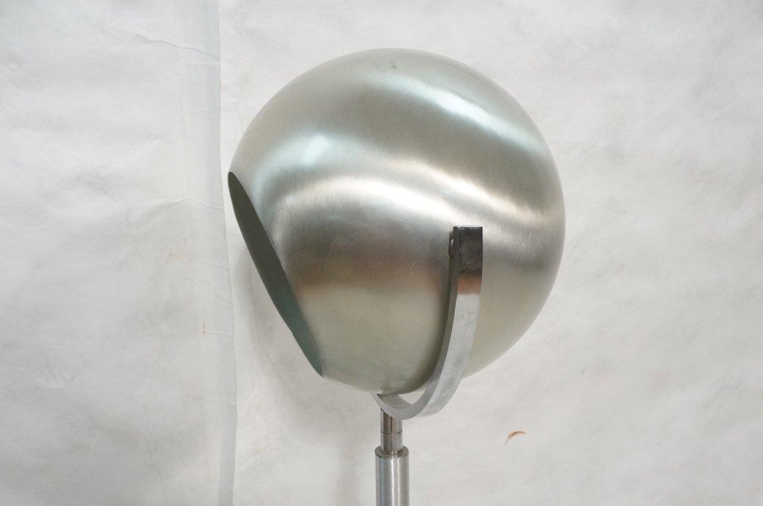 Aluminum Sphere Shade Floor Lamp.  Swollen alumin - 2