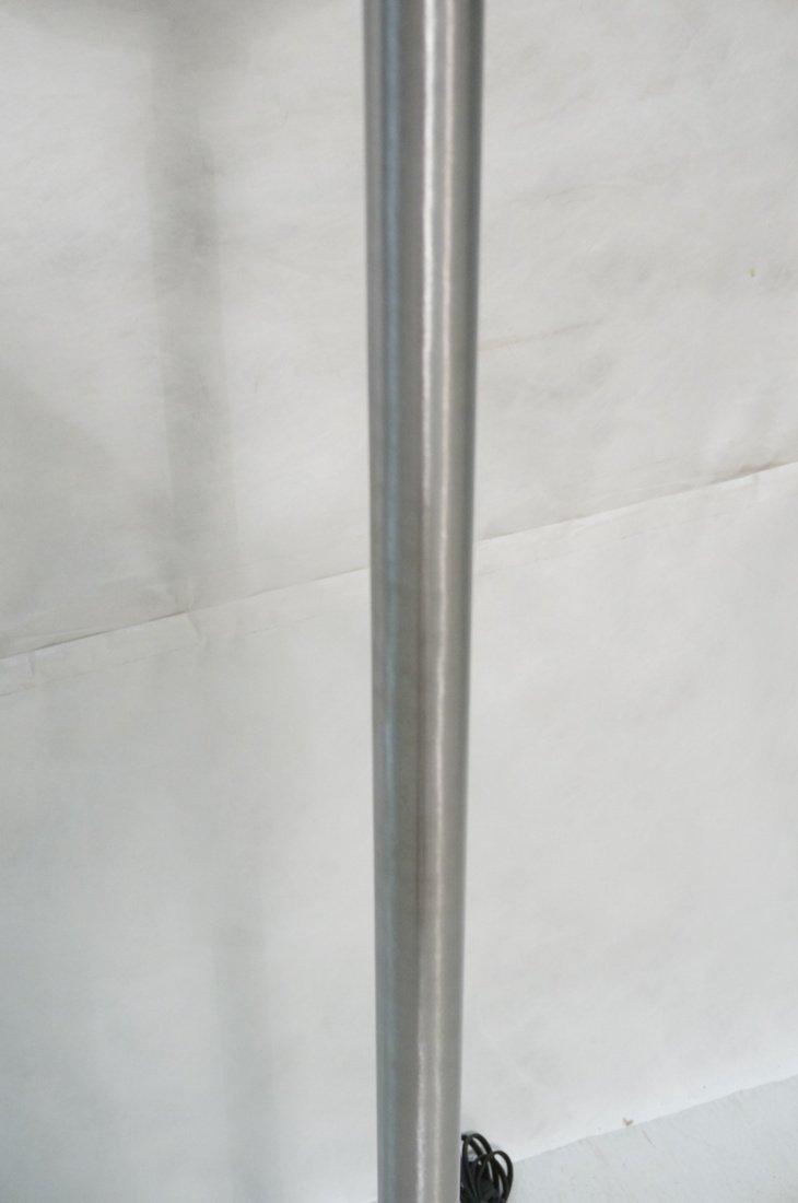 Aluminum Sphere Shade Floor Lamp.  Swollen alumin - 4