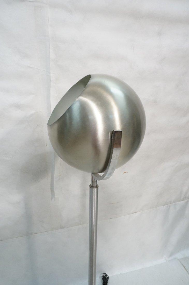 Aluminum Sphere Shade Floor Lamp.  Swollen alumin - 7