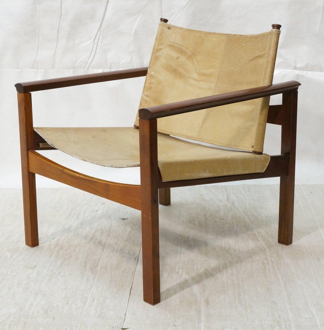 MICHEL ARNOULT Rosewood & Leather SAFARI Chair.
