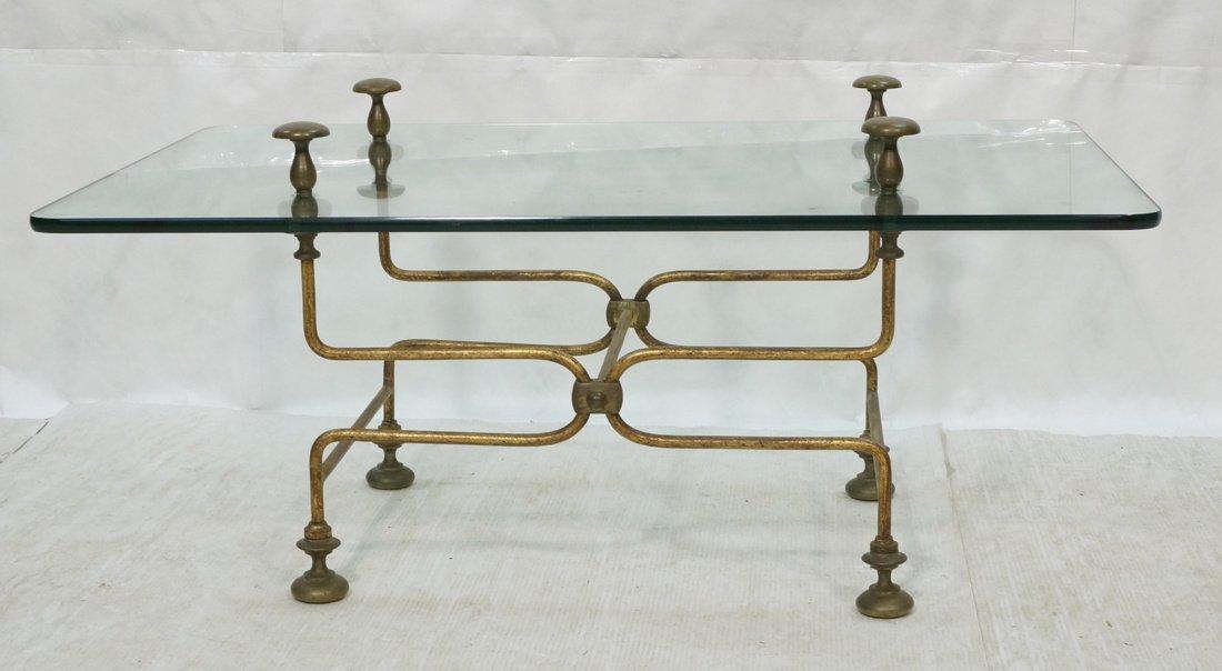 Industrial Victorian Steampunk Metal Coffee Table