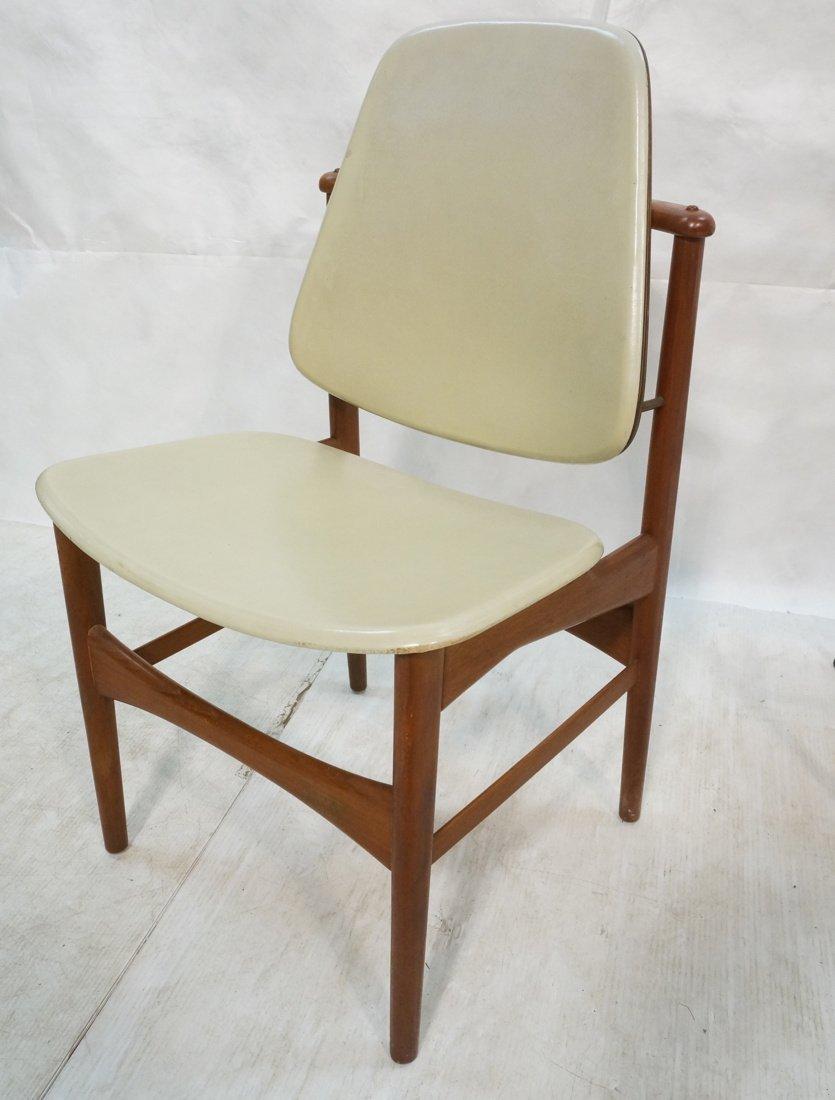 HOVMAND OLSEN Danish Teak Side Chair. Arched Fram
