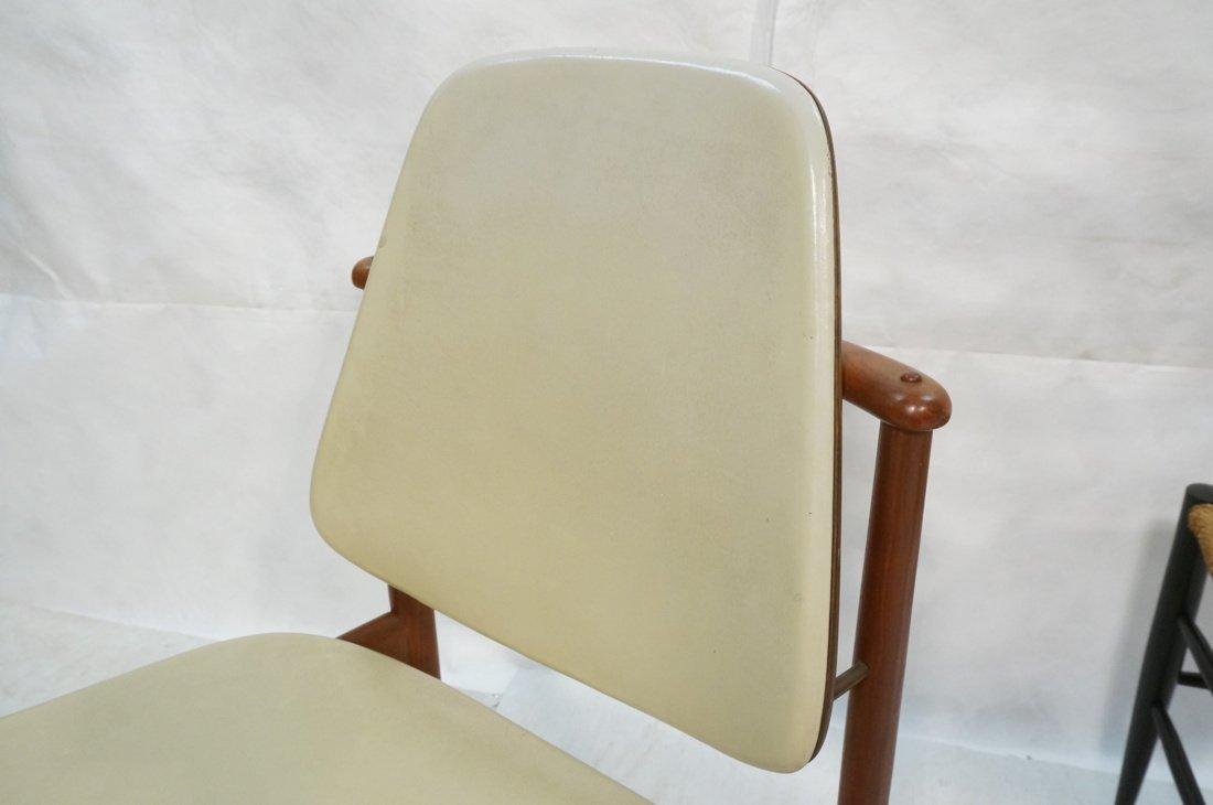 HOVMAND OLSEN Danish Teak Side Chair. Arched Fram - 2