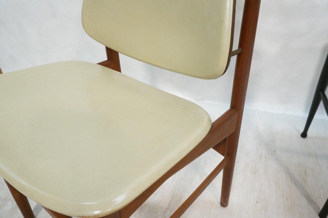 HOVMAND OLSEN Danish Teak Side Chair. Arched Fram - 3