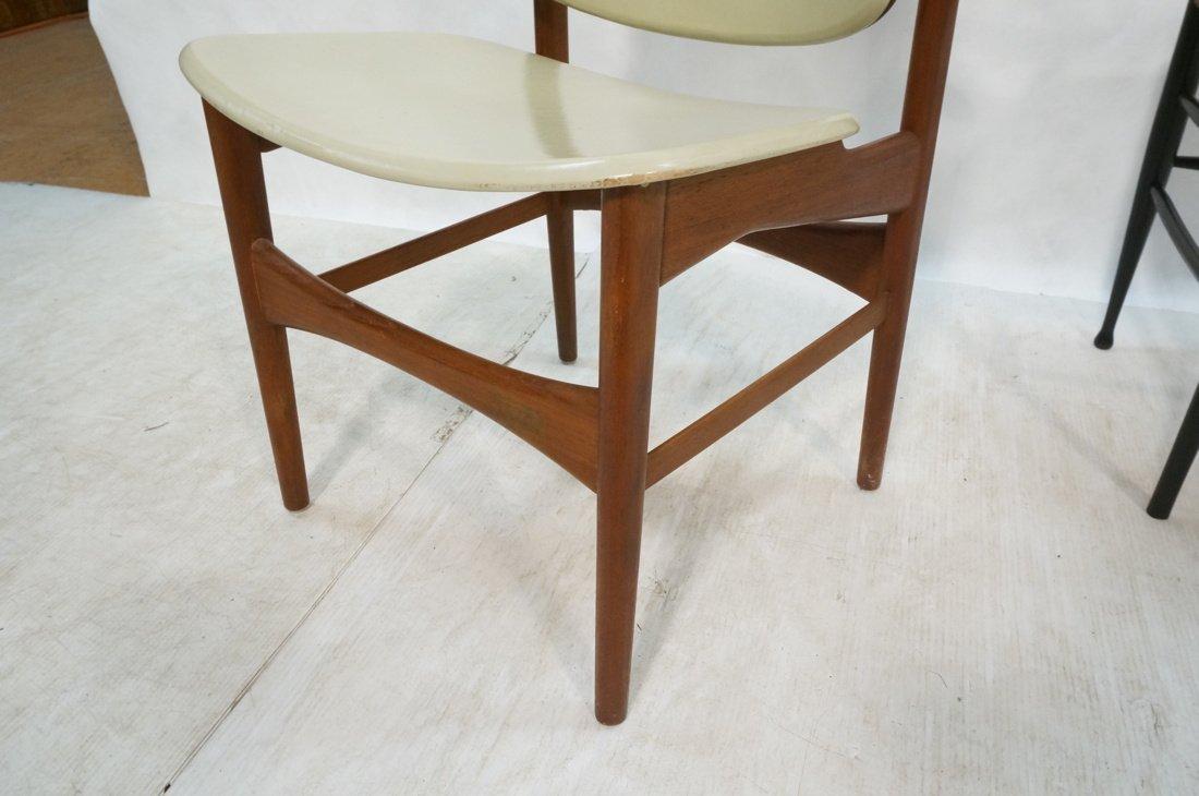HOVMAND OLSEN Danish Teak Side Chair. Arched Fram - 4