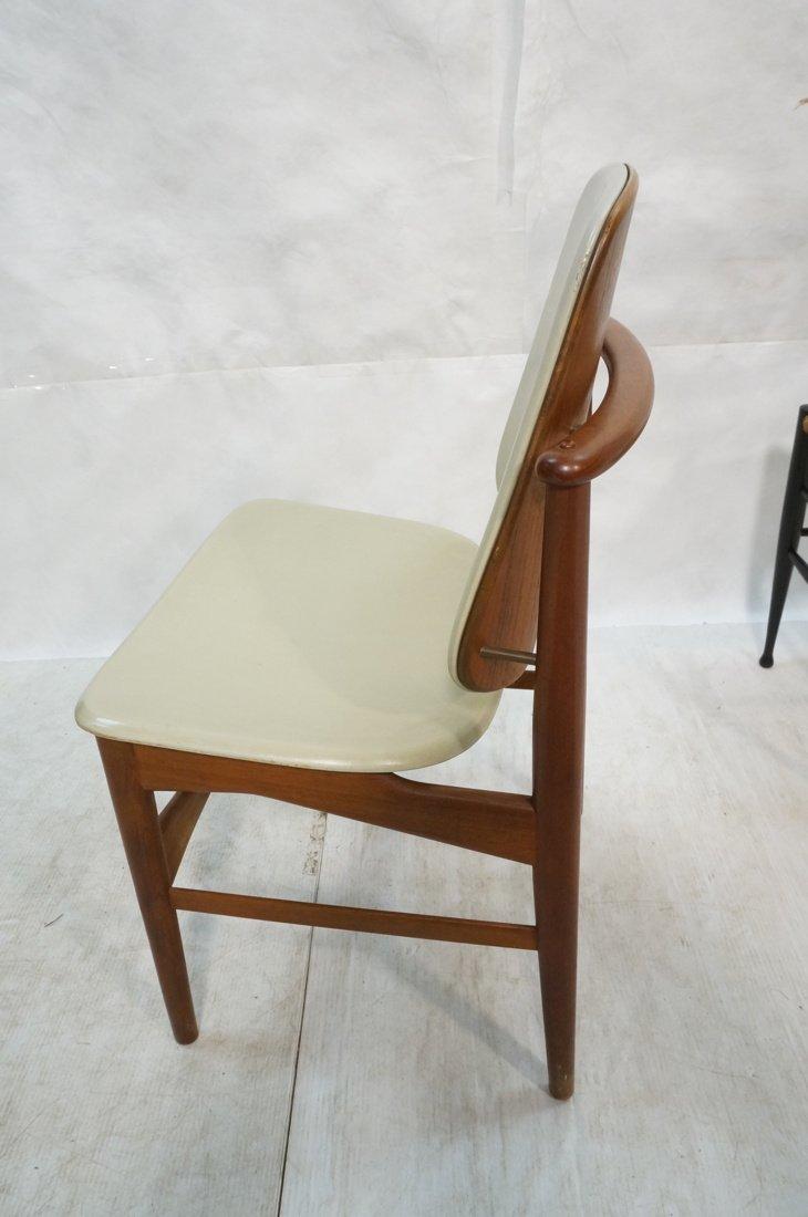 HOVMAND OLSEN Danish Teak Side Chair. Arched Fram - 5