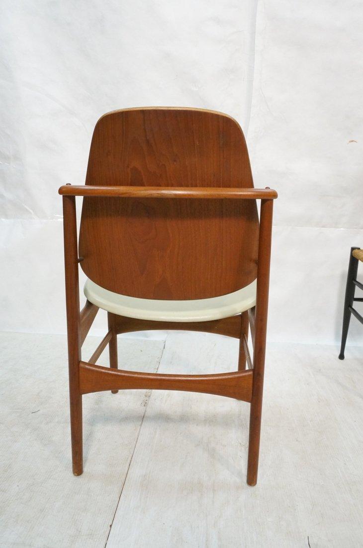 HOVMAND OLSEN Danish Teak Side Chair. Arched Fram - 6