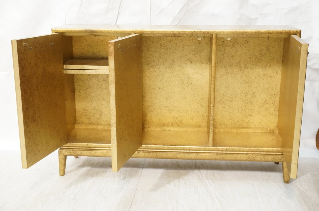 Gold Paint Decorated Small Credenza. Three Door C - 2