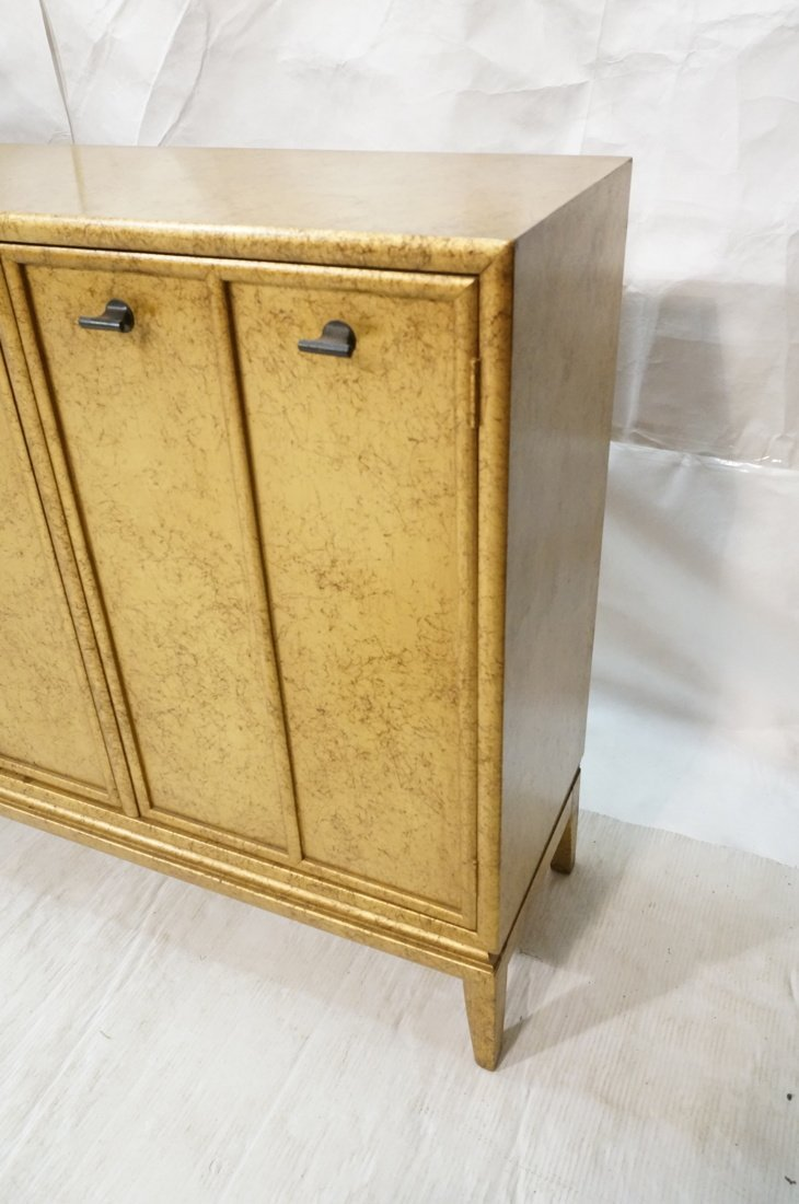 Gold Paint Decorated Small Credenza. Three Door C - 3