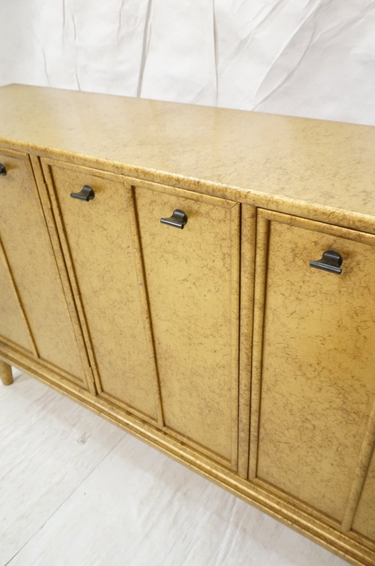 Gold Paint Decorated Small Credenza. Three Door C - 4