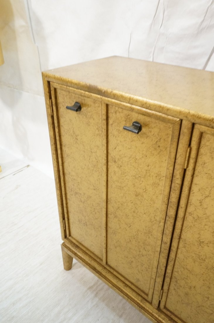 Gold Paint Decorated Small Credenza. Three Door C - 5