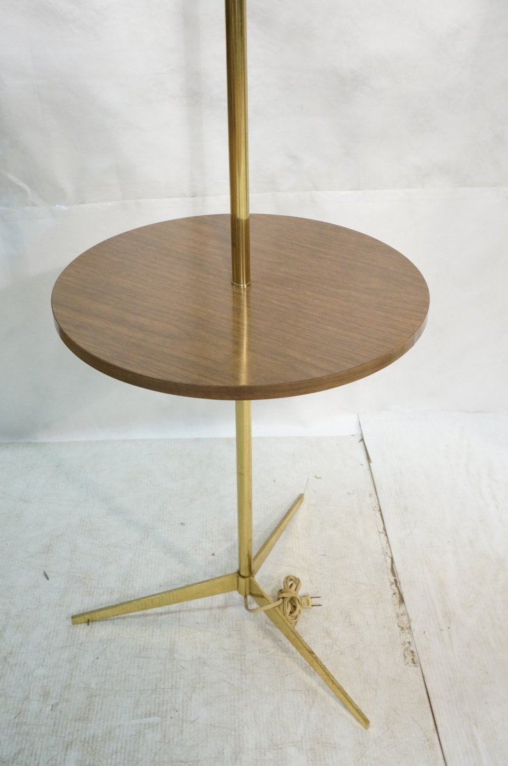 LAUREL Brass Table Floor Lamp. Tripod base. Wood - 2