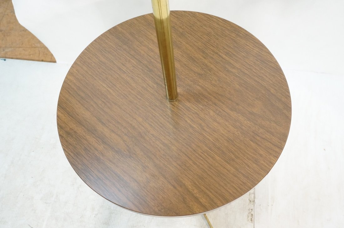 LAUREL Brass Table Floor Lamp. Tripod base. Wood - 5