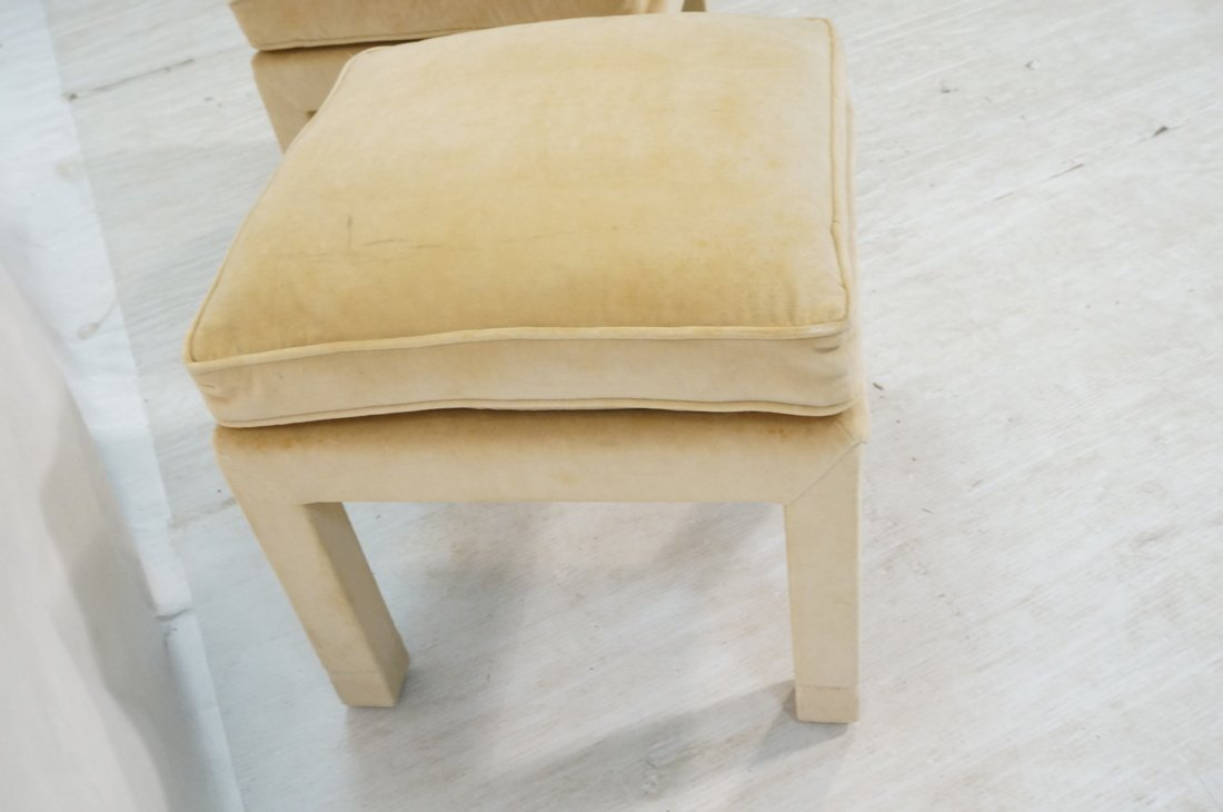 Pr Upholstered Stools Benches. Parson style stool - 4