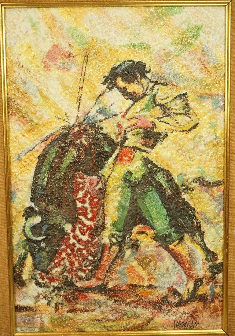 de TARRASA Mexico Framed  Tile Plaque. Matador &