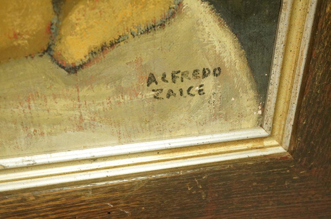 ALFREDO ZALCE Signed Modernist Oil Painting Still - 2