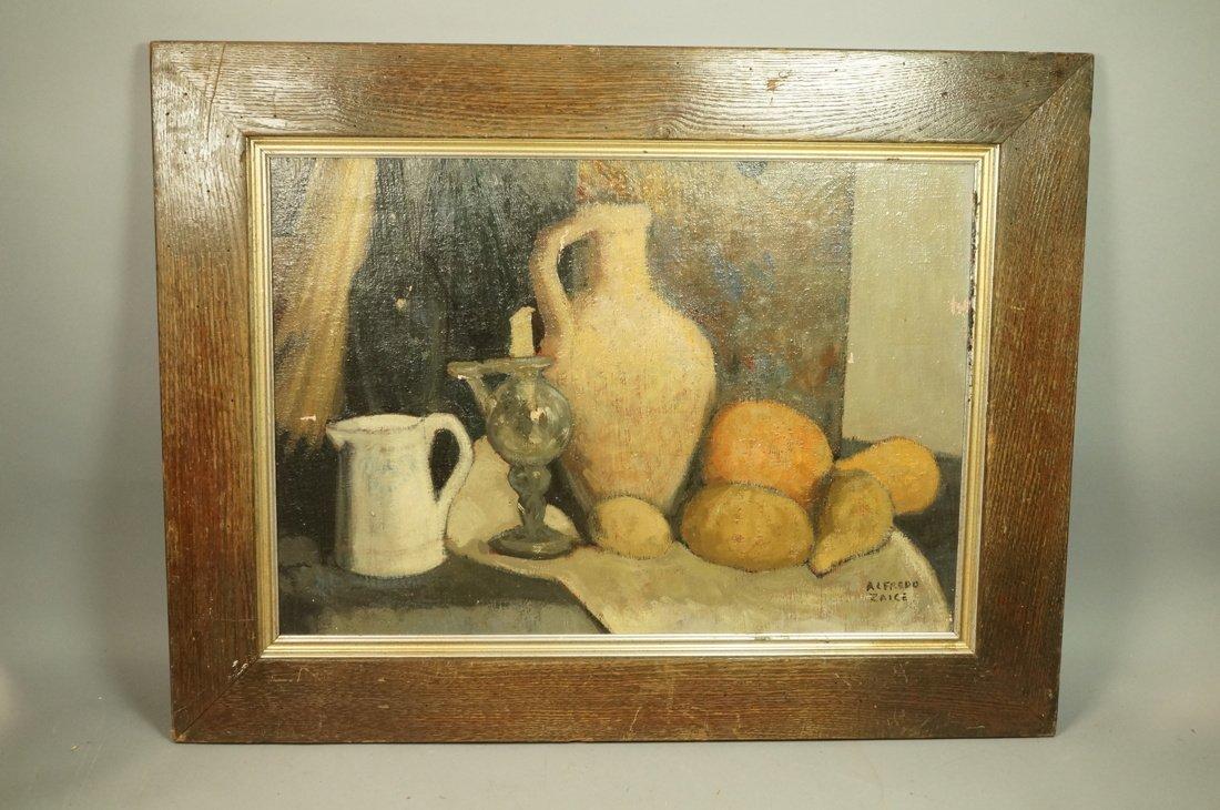 ALFREDO ZALCE Signed Modernist Oil Painting Still - 6