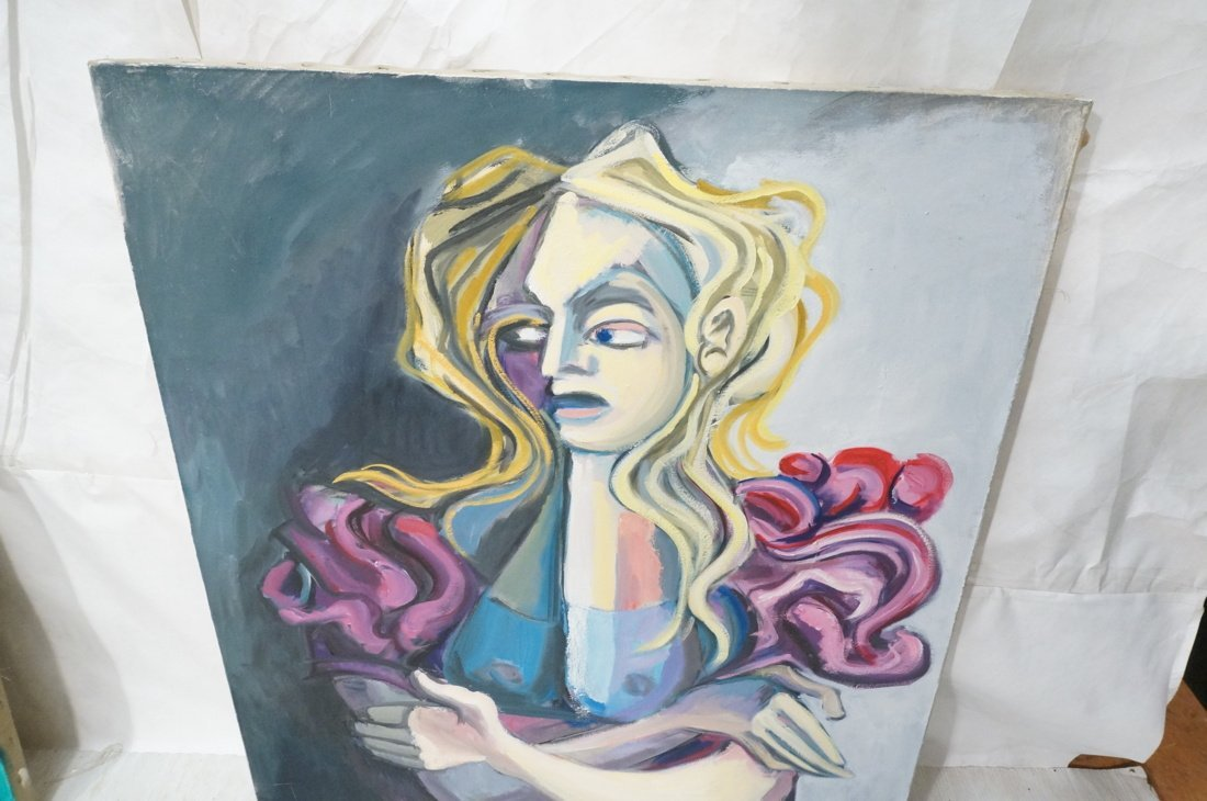 Signed GEORGE CONRAD Oil Painting. Blonde Female - 2