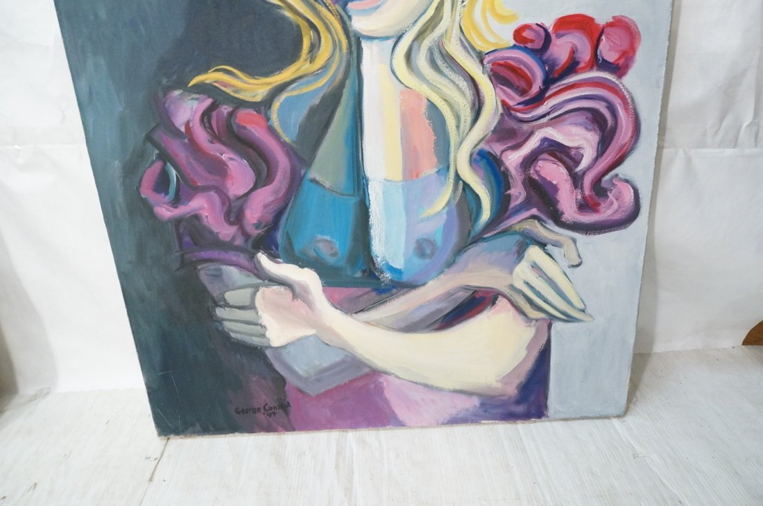 Signed GEORGE CONRAD Oil Painting. Blonde Female - 3