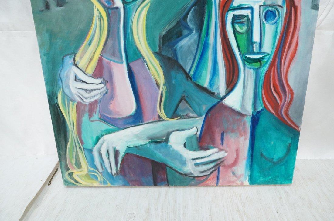 Signed GEORGE CONRAD Cubist Oil Painting. Triple - 3