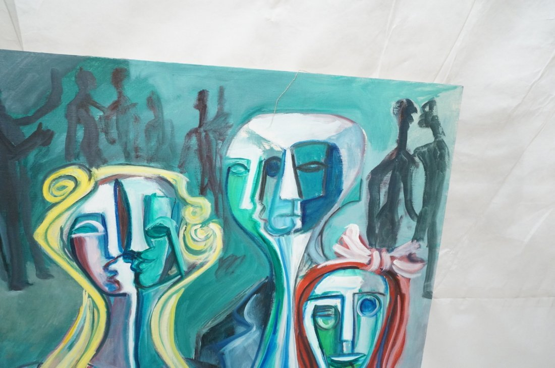 Signed GEORGE CONRAD Cubist Oil Painting. Triple - 4