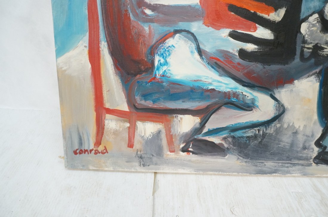 Signed GEORGE CONRAD Oil Painting. Seated Figure - 2