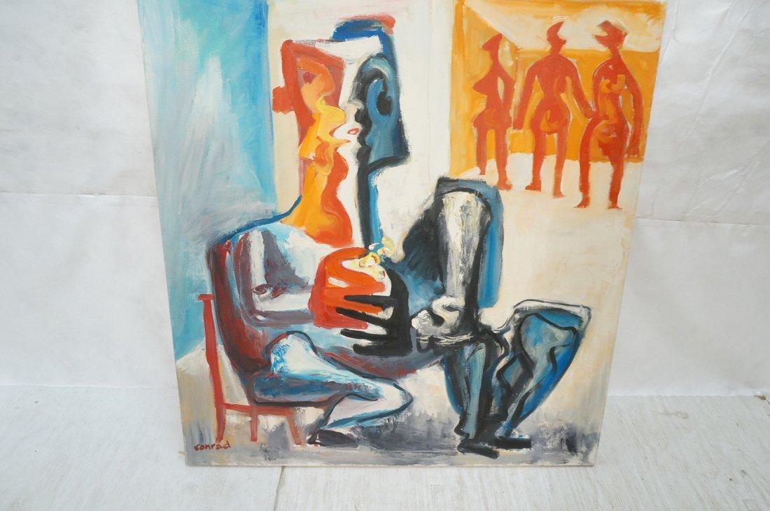 Signed GEORGE CONRAD Oil Painting. Seated Figure - 4