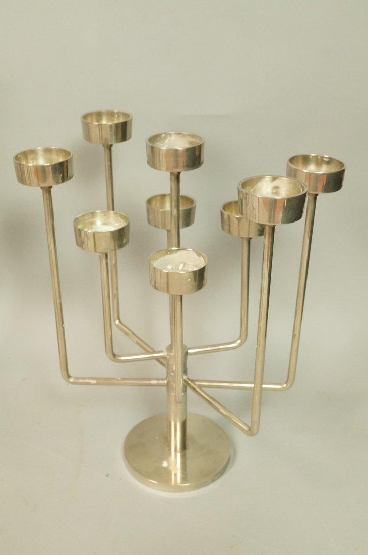 Lot 5 Metal Candle Sticks Candelabra. Modernist. - 4