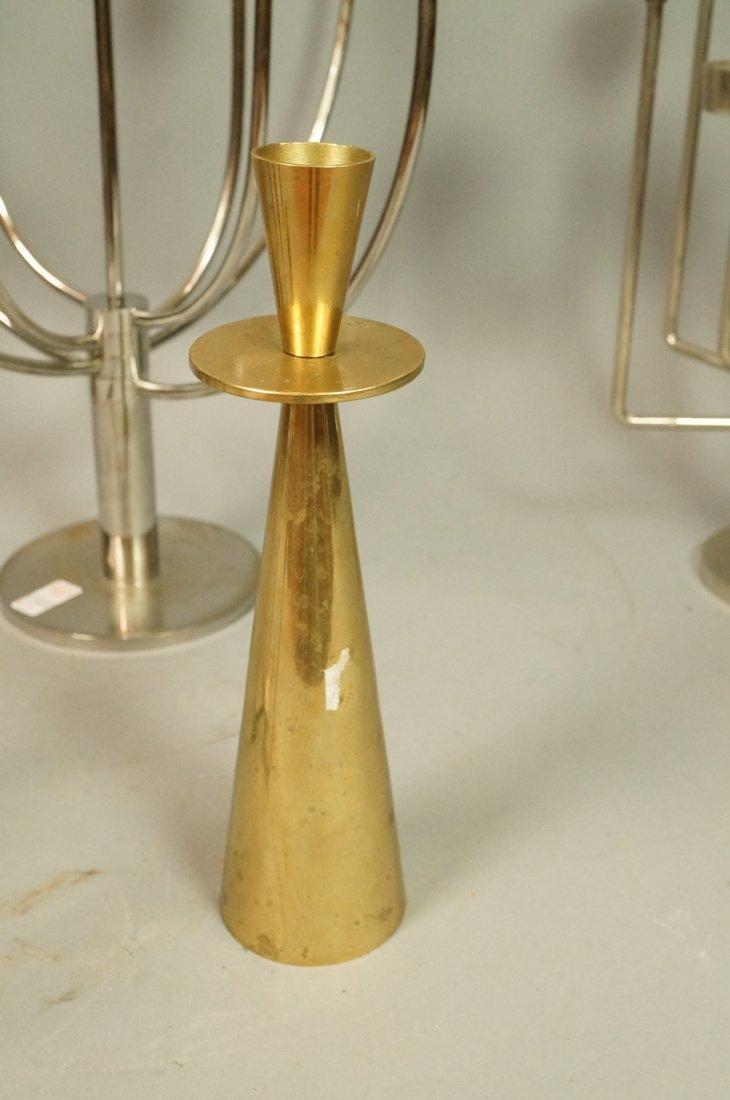 Lot 5 Metal Candle Sticks Candelabra. Modernist. - 7