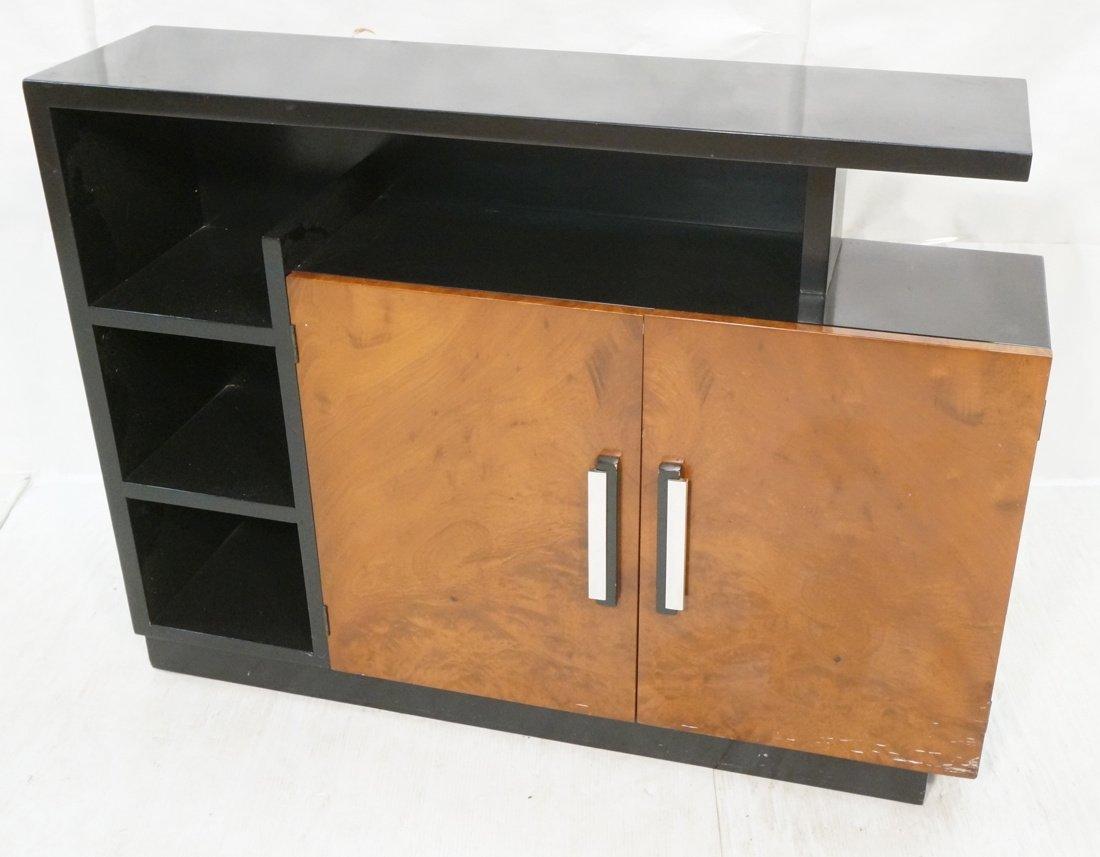 Art Deco WALTER DORWIN TEAGUE Bookcase. Burl Wood