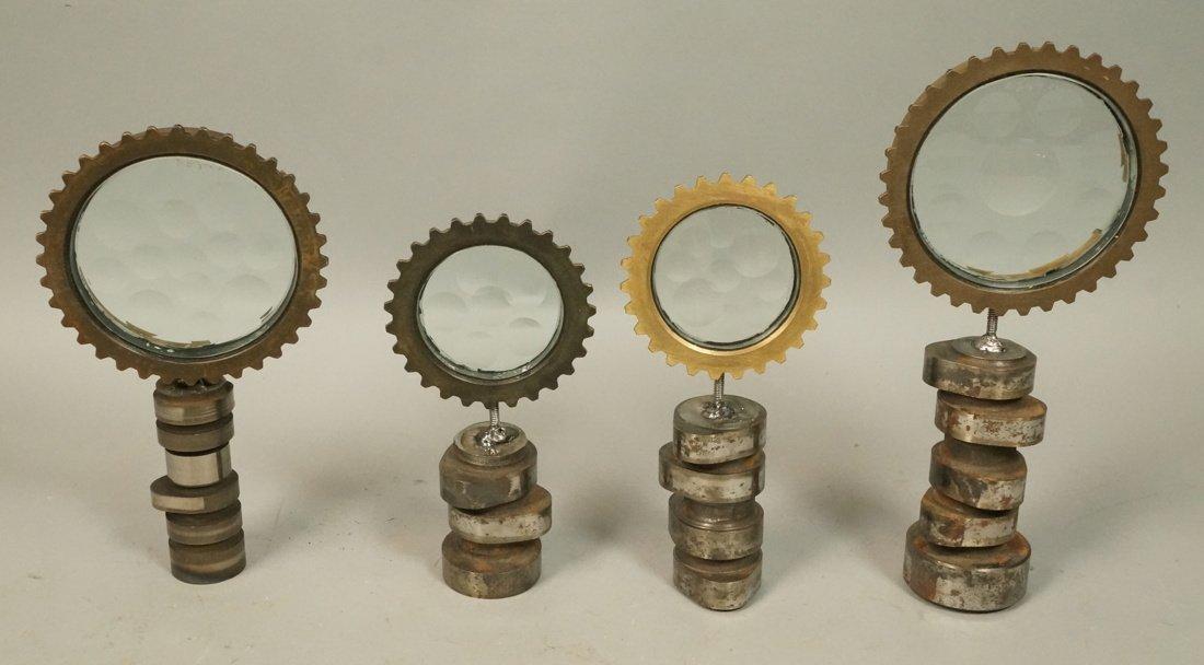 Lot 4 Magiscope Table Top Industrial Sculptures.