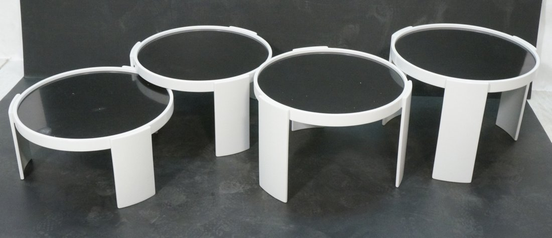 CASSINA 4 Stacking Nesting Tables. Gianfranco Frattini