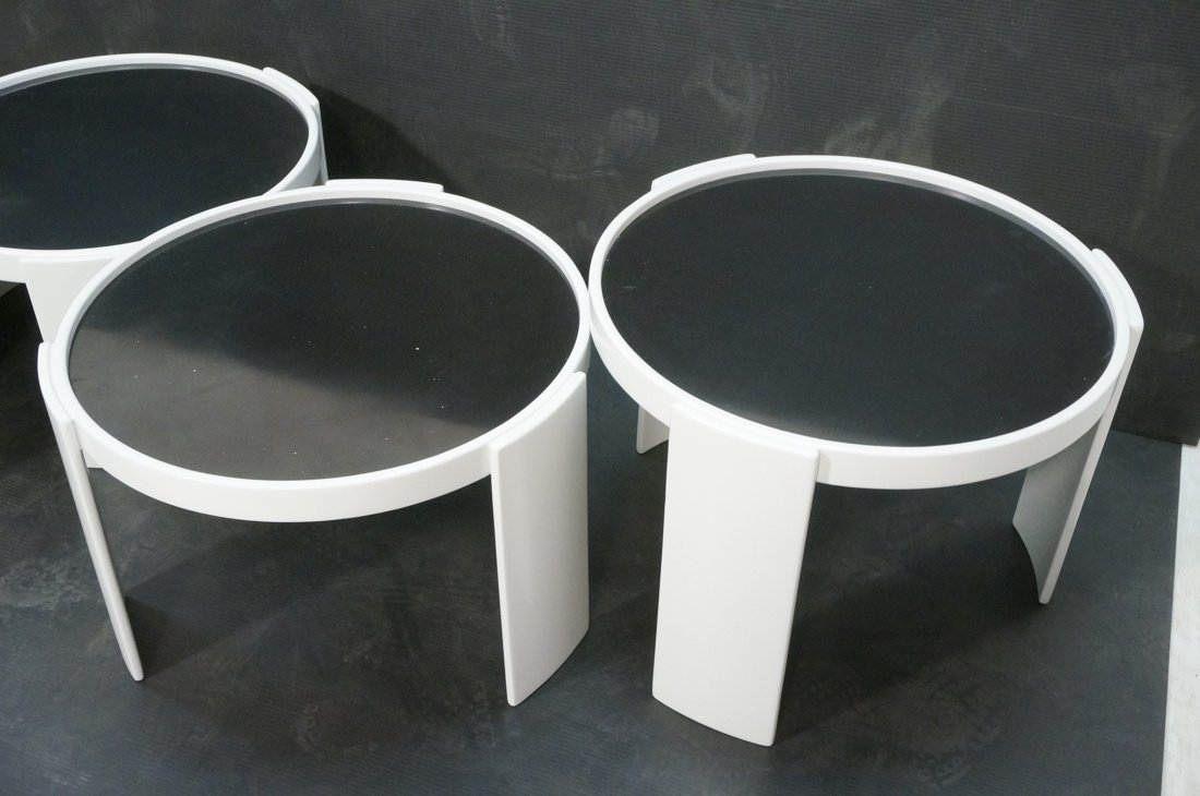 CASSINA 4 Stacking Nesting Tables. Gianfranco Frattini - 3