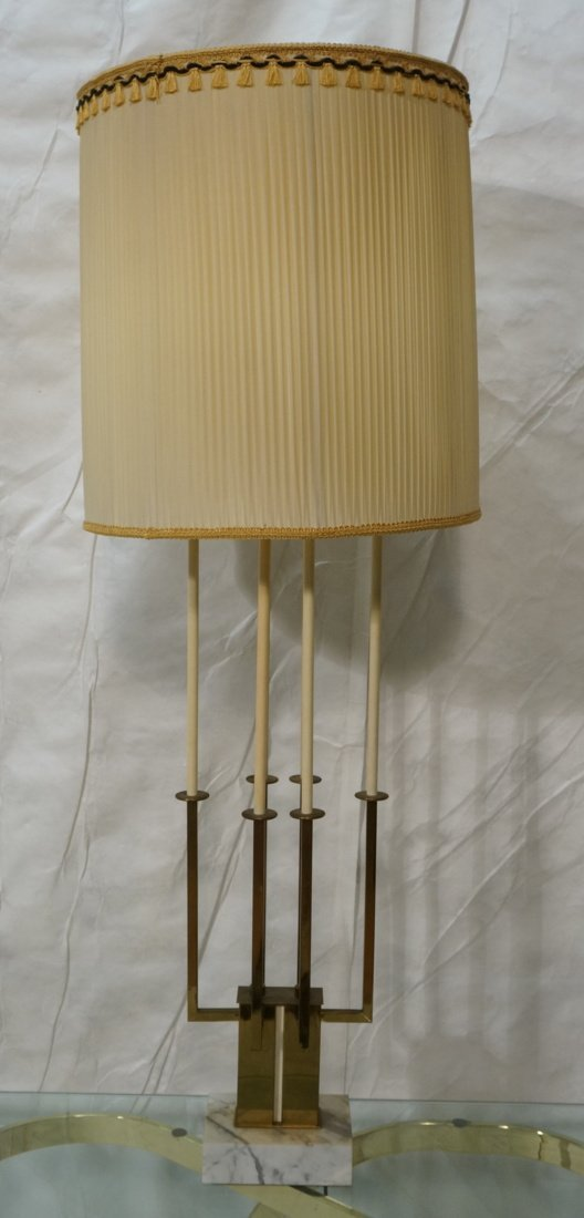 Tall PARZINGER style Four Arm Table Lamp. Thin br - 2