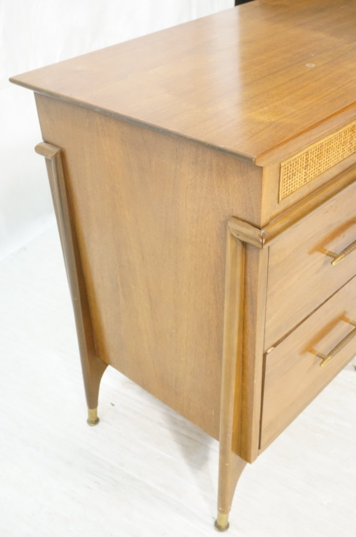 Modernist Walnut Desk. Two Caned front drawers. M - 2