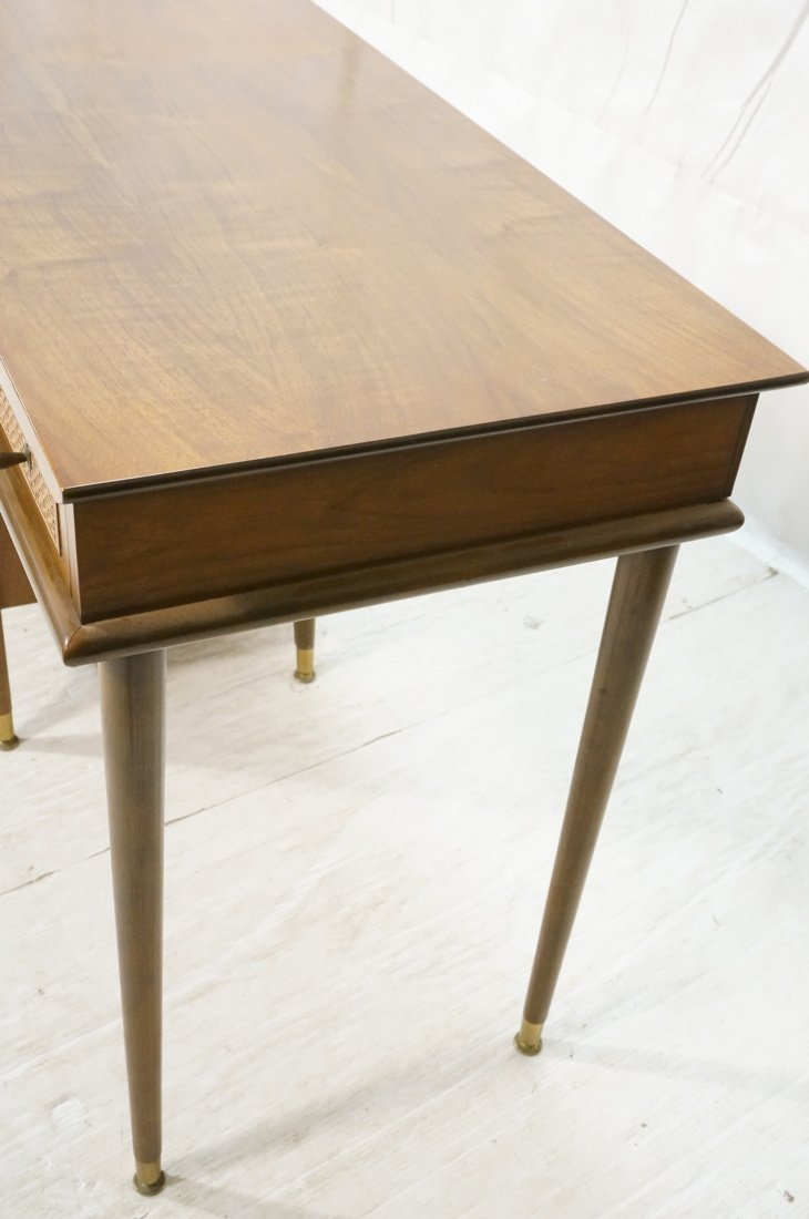 Modernist Walnut Desk. Two Caned front drawers. M - 5