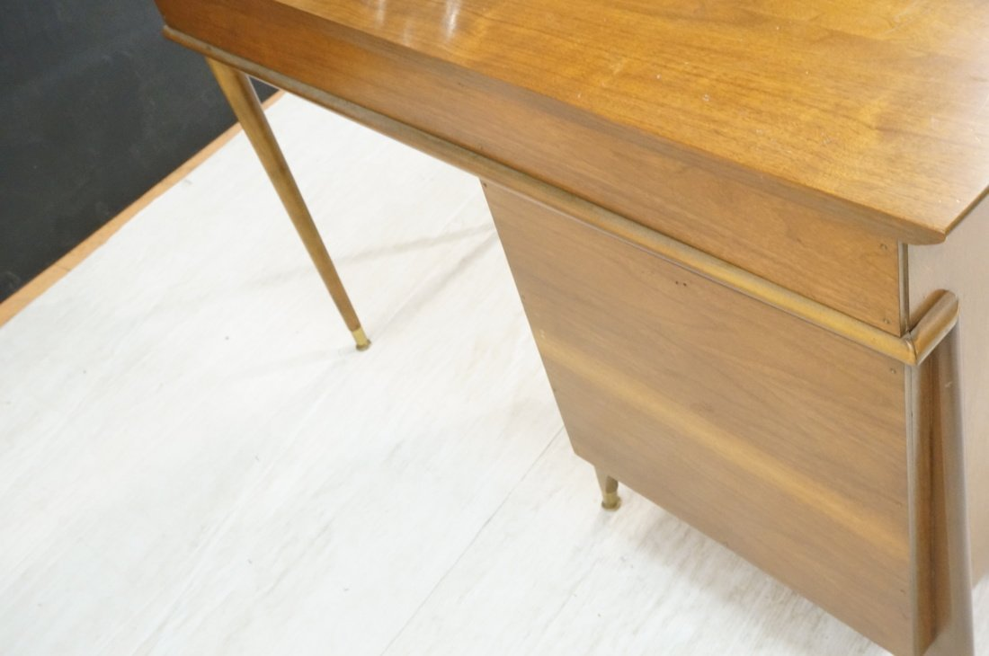 Modernist Walnut Desk. Two Caned front drawers. M - 7