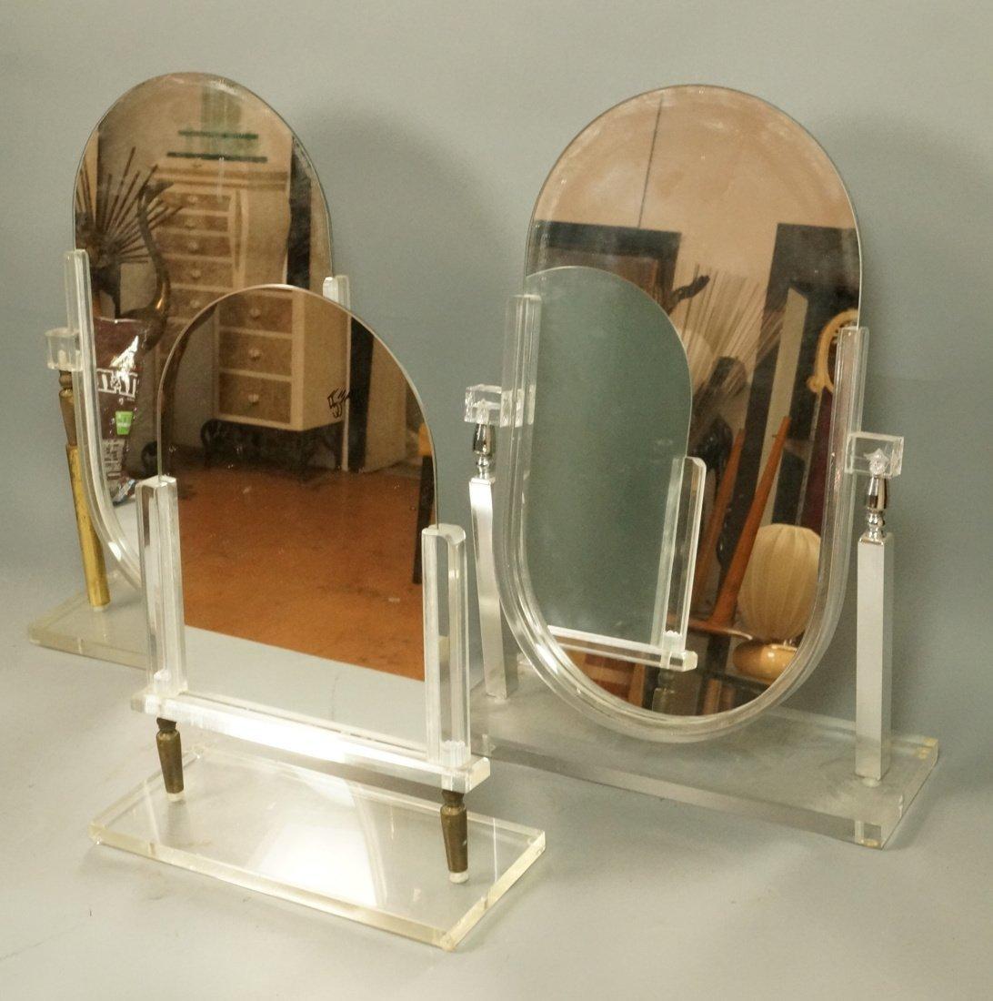 Lot of 3 Vintage Store Display Mirrors. Industria