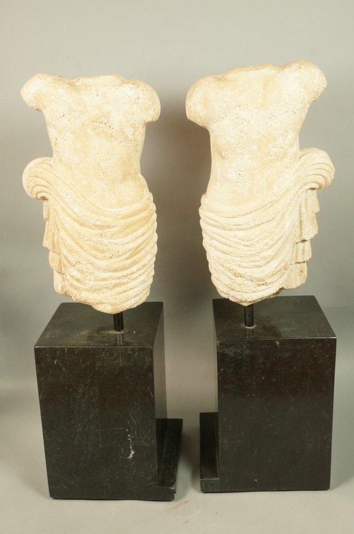 Pr Repro Cast Figural Sculptures. Male torsos. On - 10