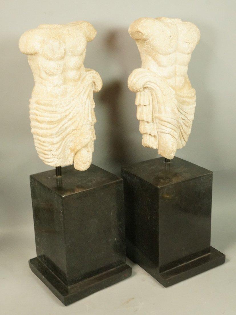 Pr Repro Cast Figural Sculptures. Male torsos. On